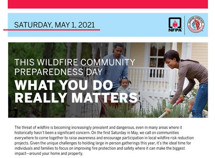 Get Involved! 2021 Wildfire Preparedness Day