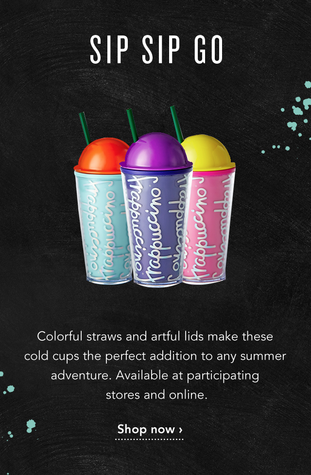 Sip Sip Go | Colorful straws and artful lids make these cold cups the perfect addition to any summer adventure. Available at participating stores and online. Shop now >