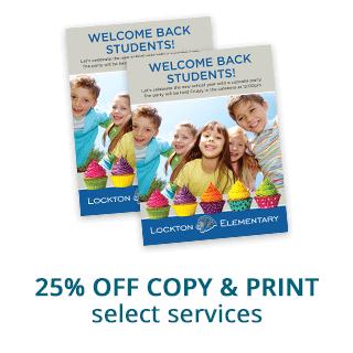 25% off Copy & Print