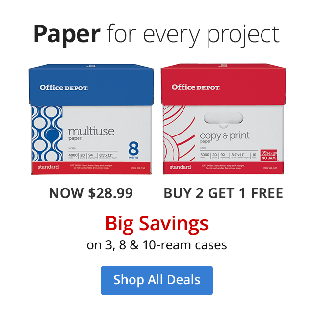 Big Savings on paper deals 3, 8, 10 ream cases