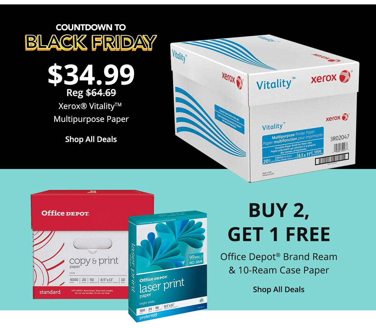 Xerox Vitality for $34.99 / with Buy 2, get 1 Free