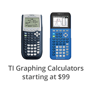 TI Graphing Calculators starting at $99