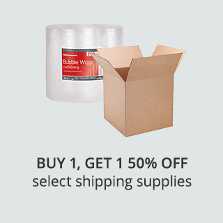 Buy 1, Get 1 50% off select shipping supplies
