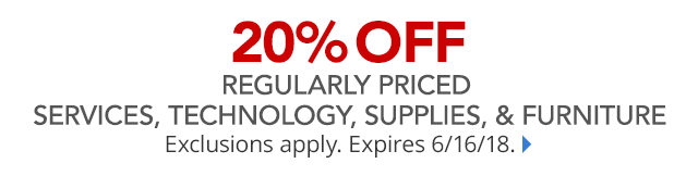 20% off regular priced purchases and PLCC Save $25 when spend $100 on Office Depot card