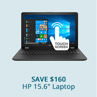 Save $160 on HP 15.6 Laptop