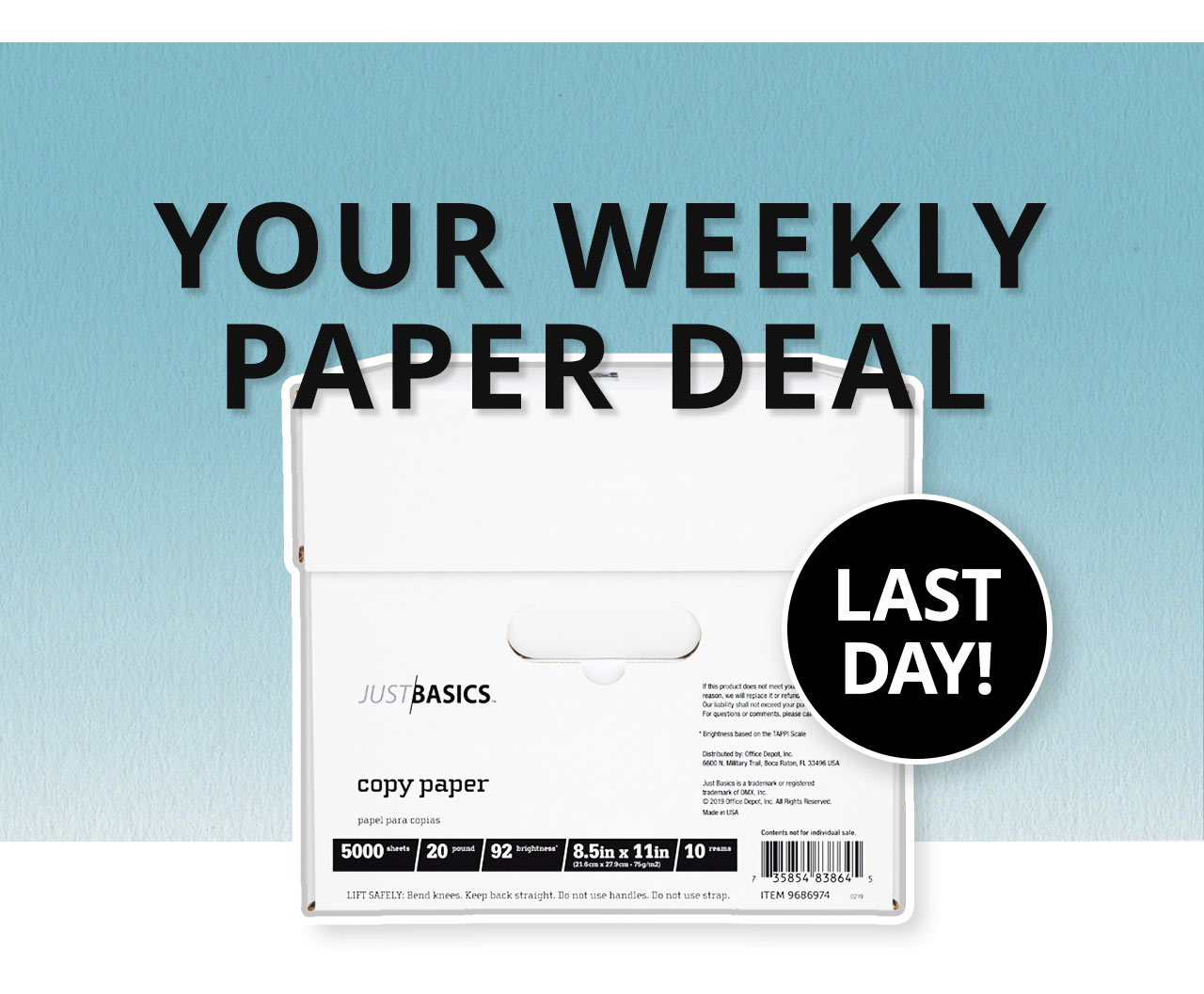 Your weekly paper deal