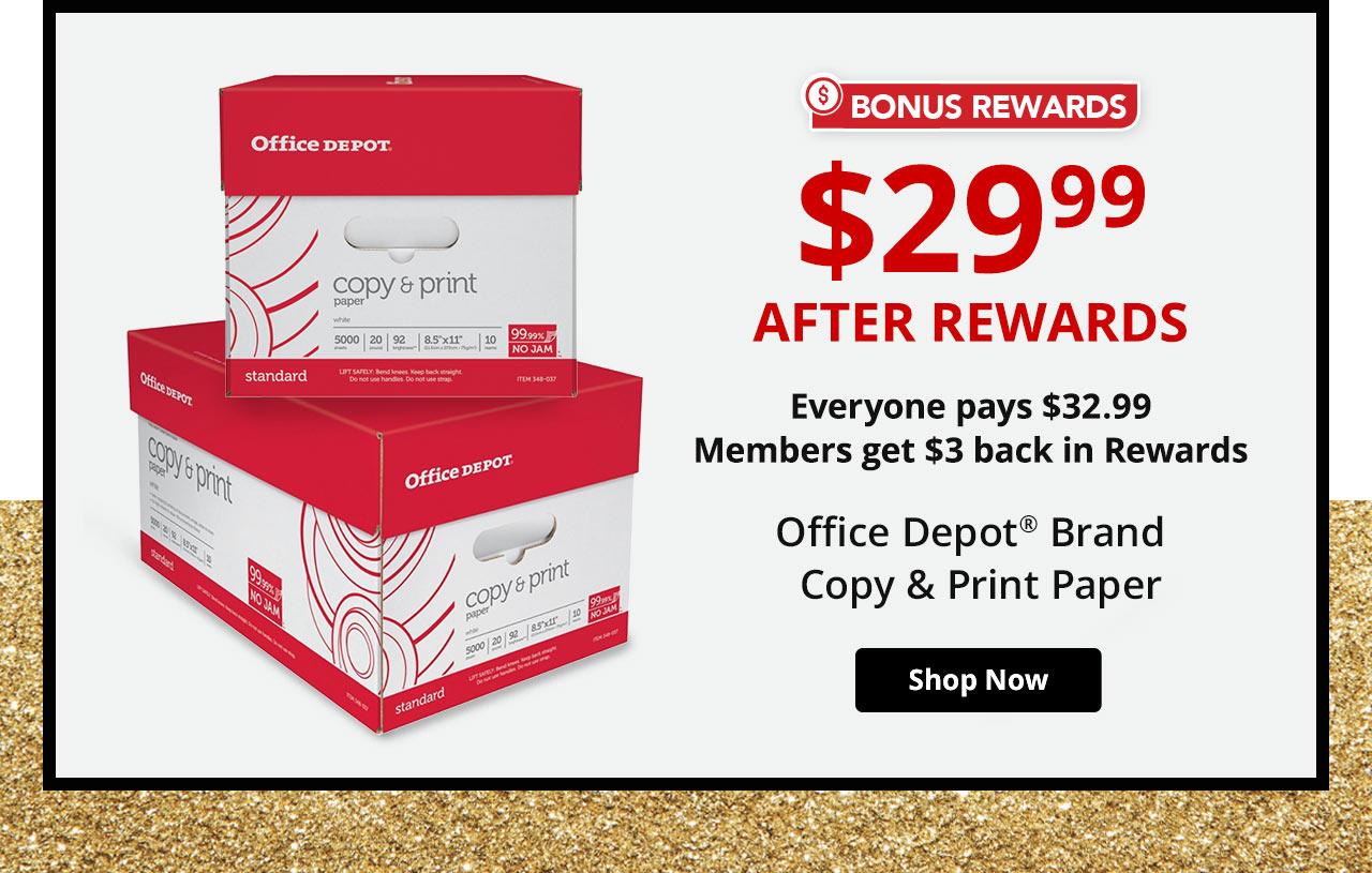 $29.99 Office Depot® Paper After Rewards