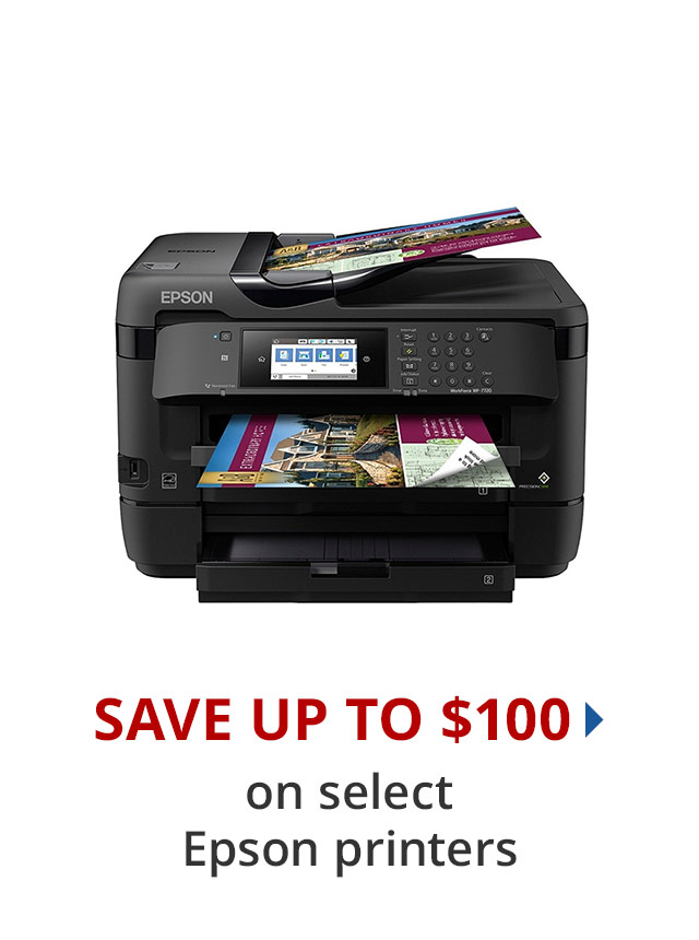 Save up to $100 on select Epson printers