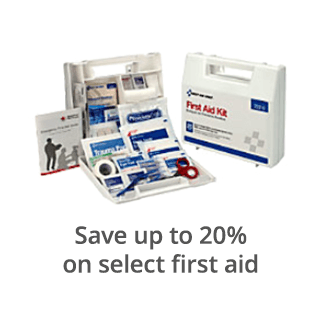Save up to 20% on select first aid
