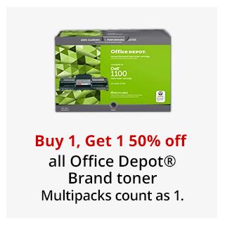 Buy 1, Get 1 50% off Office Depot Brand toner