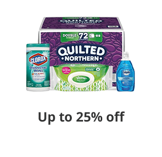 Save up to 25% select Cleaning Essentials