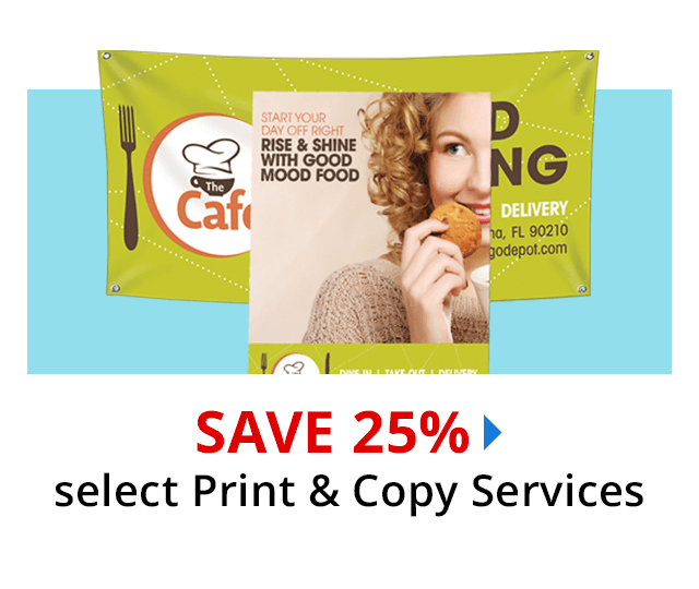 Save 25% on almost All Print & Copy services