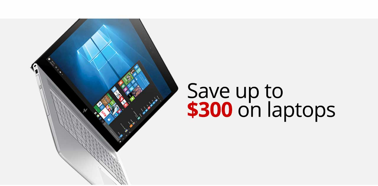 Save up to $300 on laptops