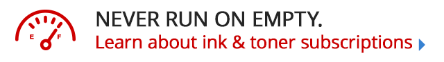 Never run on empty ink & toner subscriptions