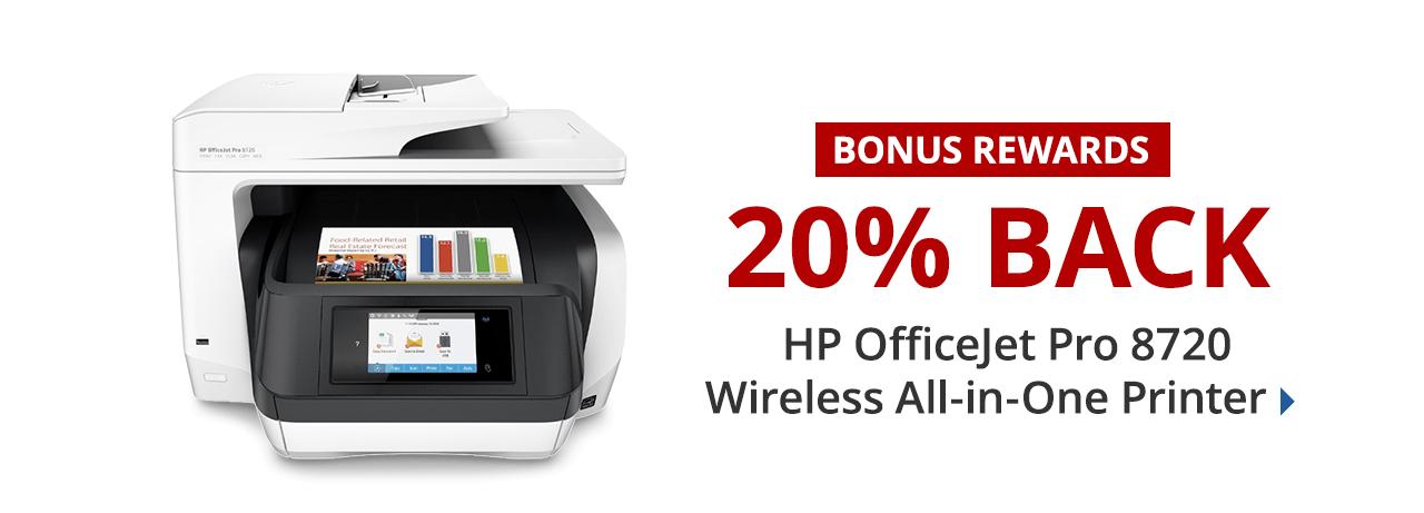 20% back in rewards on HP Officejet Pro 8720