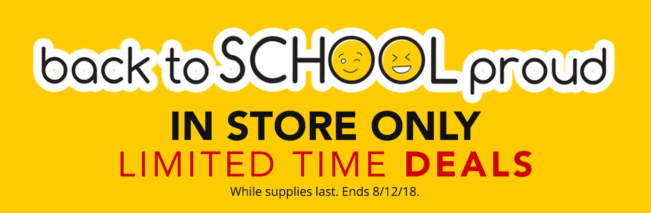 Back to School Online & In Store Deals