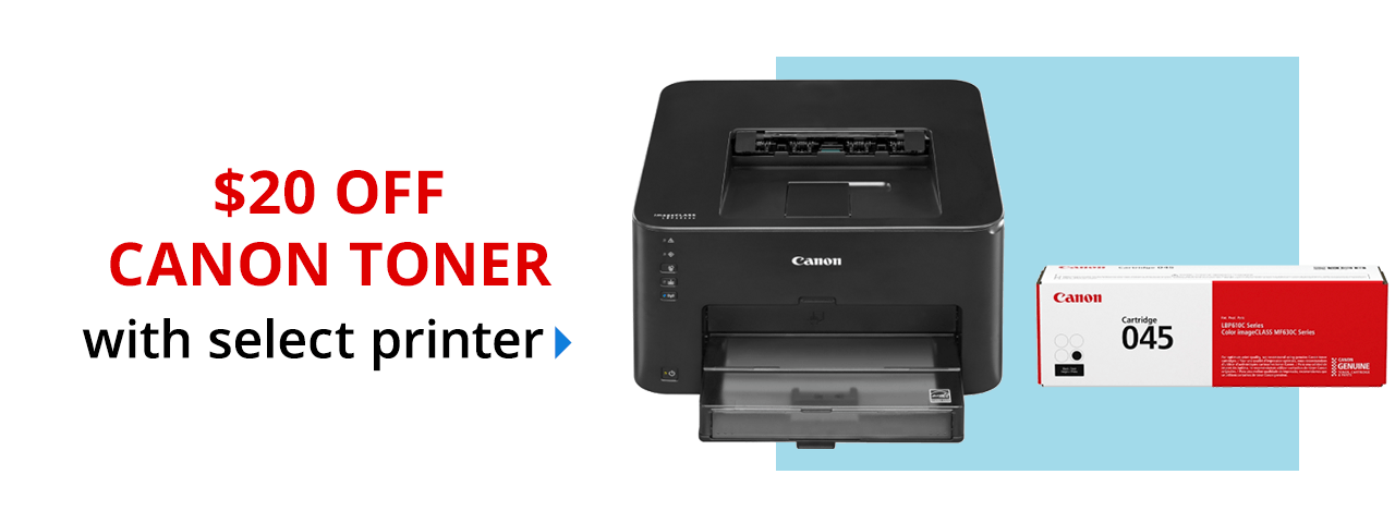 $20 off Canon toner with printer