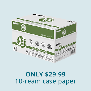 Boise X-9 10-ream case $29.99. Shop Now