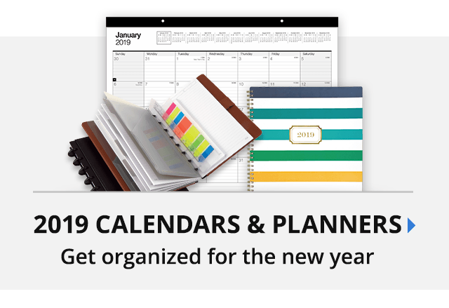 2019 Calendars & Planners