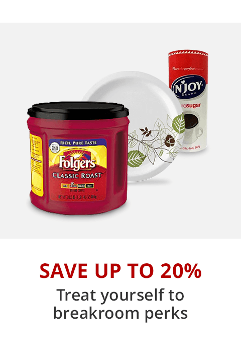 Save Up To 20% On Select Breakroom Essentials