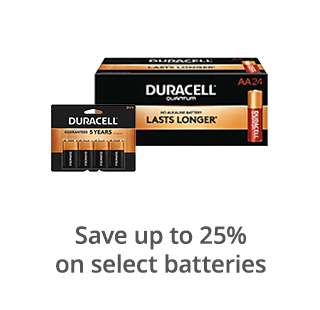 Save up to 25% on select batteries
