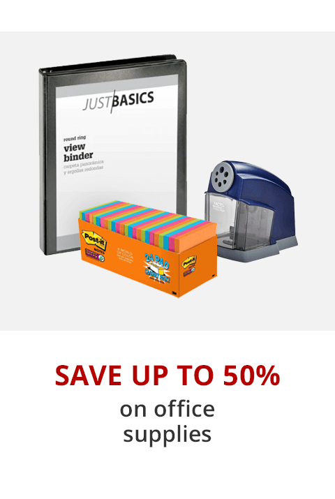 Save up to 50% office supplies