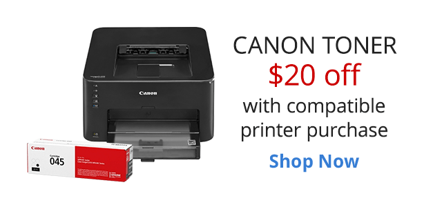 Save $20 on Canon Toner