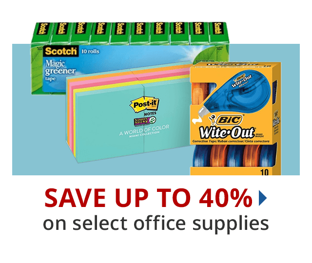 Save up to 40% select office supplies