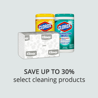 Save up to30% on select cleaning supplies