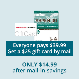 Only $14.99 after mail-in savings Aspen 30 Paper
