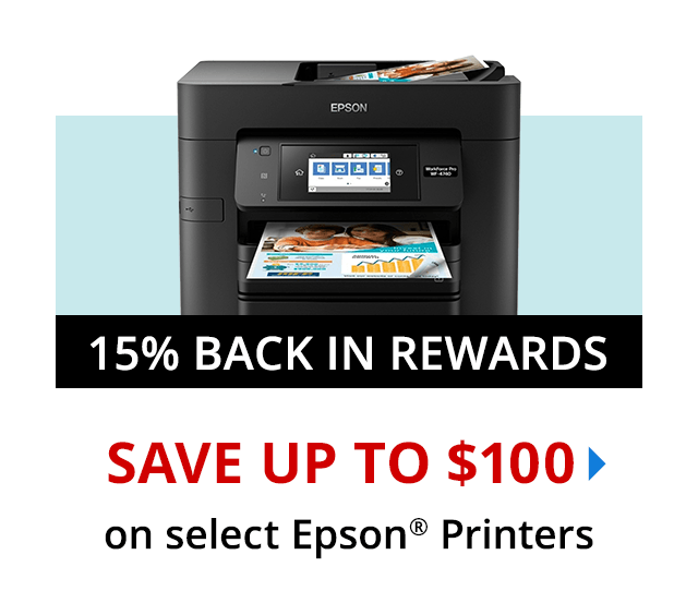 Save up to 50% on select Epson Printers