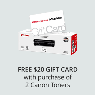 Free $20 Office Depot Gift Card with purchase of 2 Canon Toners
