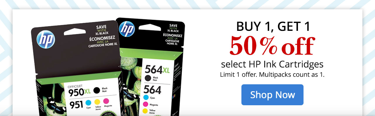 B1G1 50% Off select HP Ink Cartridges