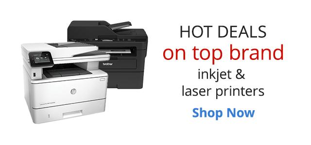 Hot deals on top brand inkjet & laser printers