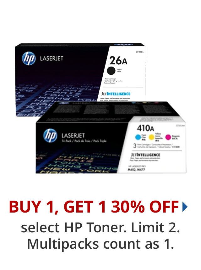 BOGO 30% select HP Toner