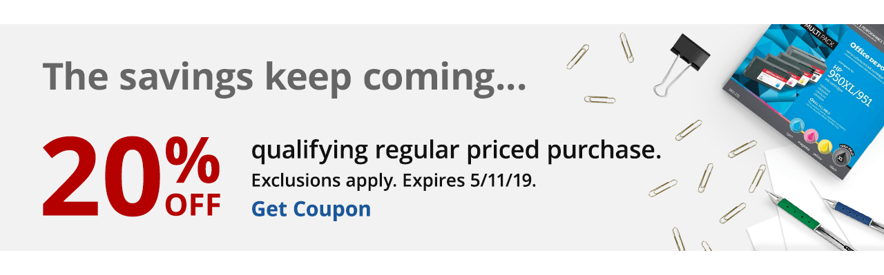 20% Off Qualifying Regular Price Purchase Coupon
