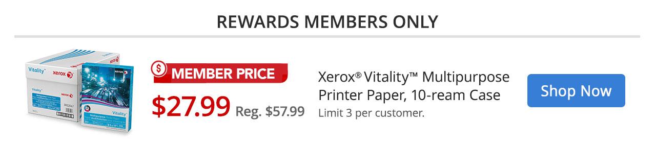 $27.99 Xerox Vitality Member Pricing