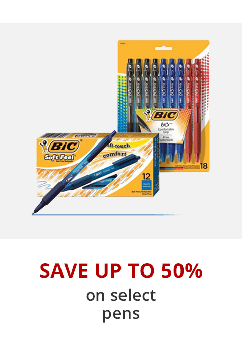 Up to 50% off pens, pencils & markers