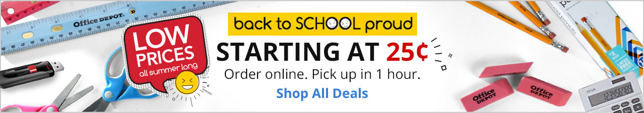 Starting at 25 cent back to school deals