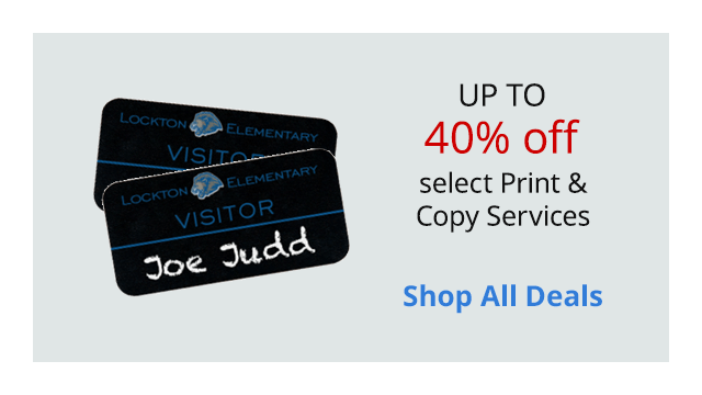 Save up to 40% off select print & copy services