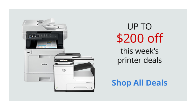 Save up to $200 on select Inkjet & Laser printers