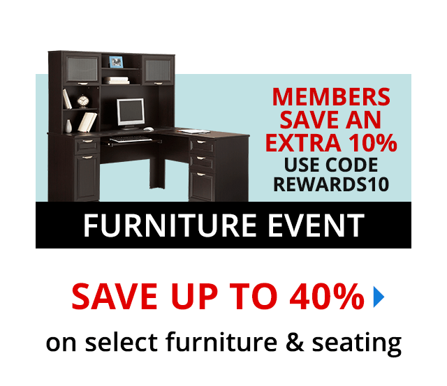 Save 40% on select furniture & seating