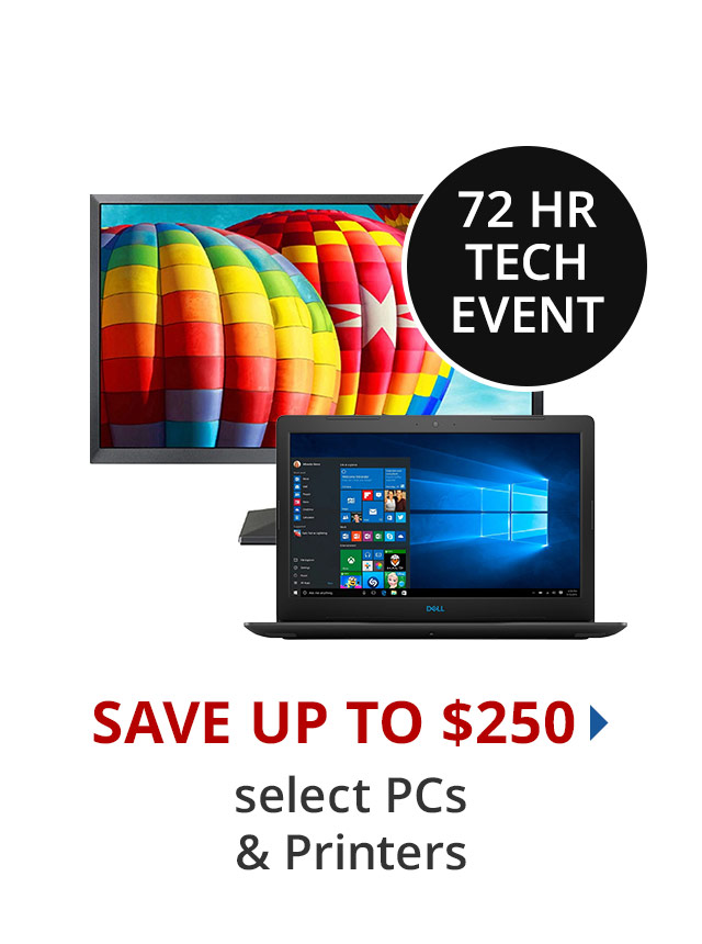 Save up to $200 select PCs & Monitors