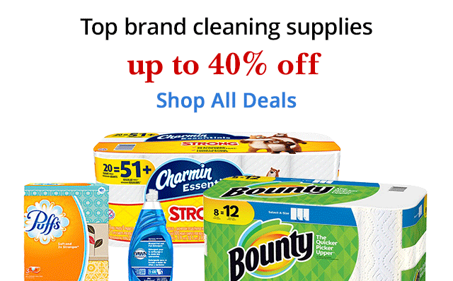 Save up to 40% off select top brand cleaning supplies