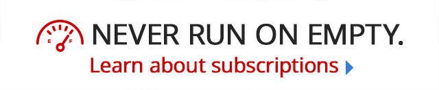 Never Run on Empty Subscription Banner