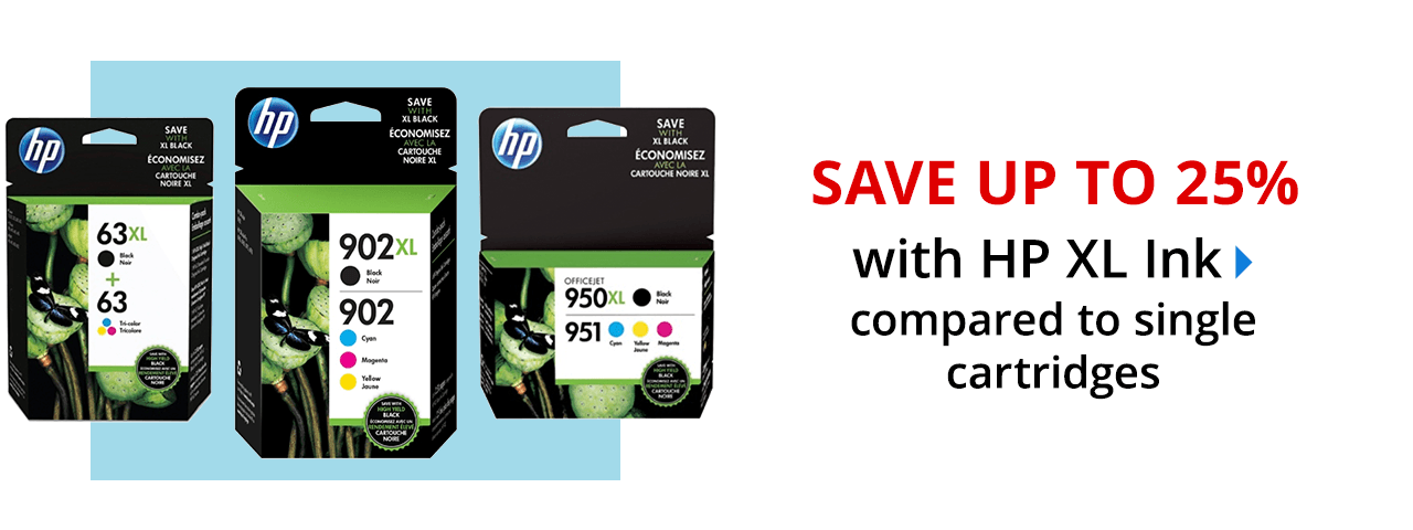 Save up to 25% with HP XL ink