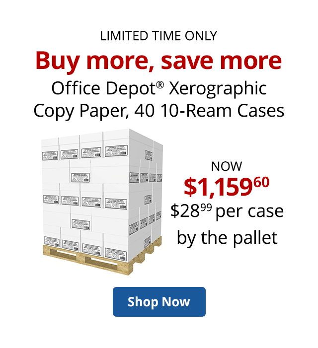 Paper by the pallet