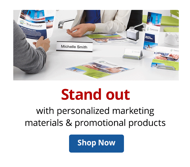 Stand out with personalized materials