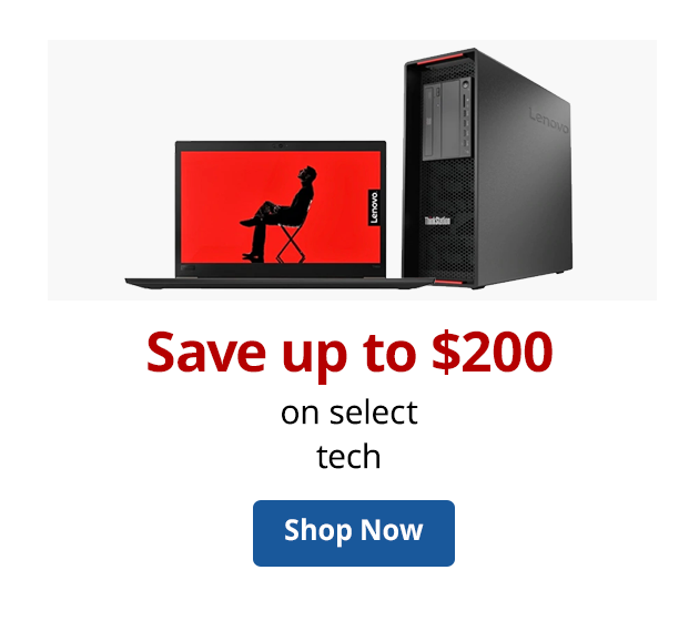 Save up to $150 on select Tech