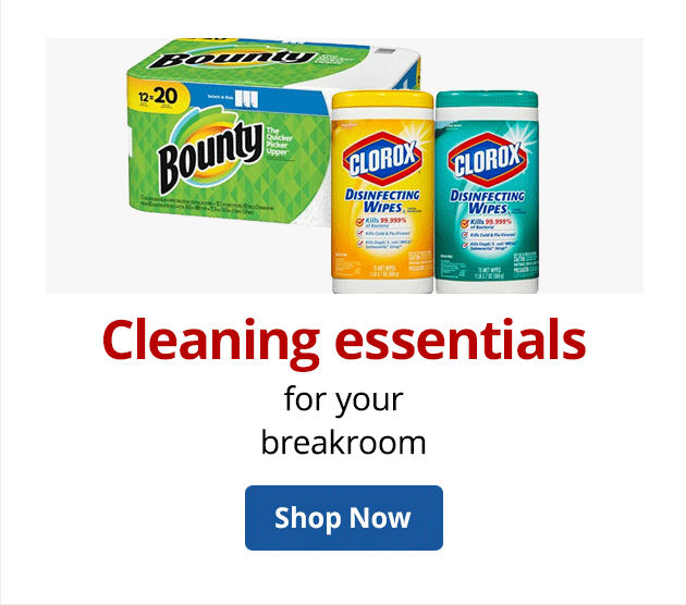 Cleaning essentials for the breakroom